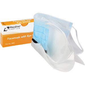 Facemask with Eye Shield, 1 per box, Prostat First Aid