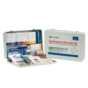 50 Person Contractor ANSI B+ First Aid Kit, Metal Case -  First Aid Only