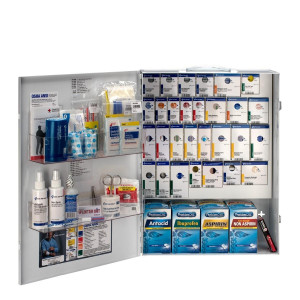 XL Metal Smart Compliance General Business First Aid Cabinet with Meds, First Aid Only