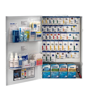 XXL Metal Smart Compliance General Business First Aid Cabinet with Meds, First Aid Only