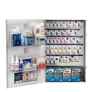 XXL Metal Smart Compliance Food Service First Aid with Meds, First Aid Only