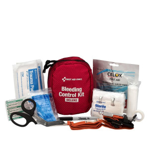 Bleeding Control Kit - Deluxe, Fabric Case, First Aid Only