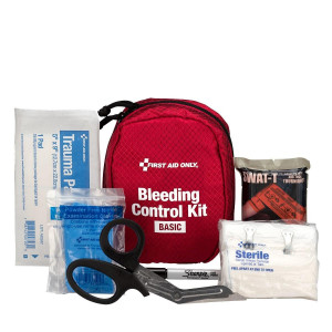 Bleeding Control Kit - Basic, Fabric Case, First Aid Only