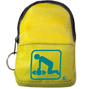 CPR Yellow Belt/KeyChain BackPack: Shield-Gloves - American CPR Training