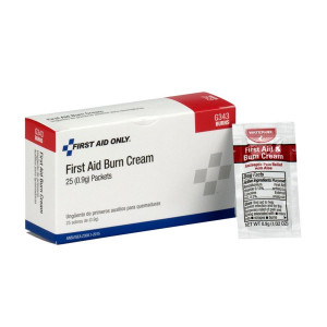 First Aid/Burn Cream, .9 gm. - 25 Per Box - First Aid Only