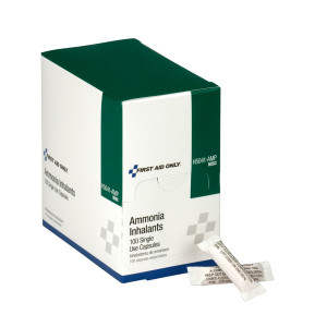 Box of 100 ammonia inhalants which help to prevent or treat fainting
