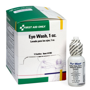 Eye Wash - 1 oz. - Plastic Bottle - 12 Per Box - First Aid Only