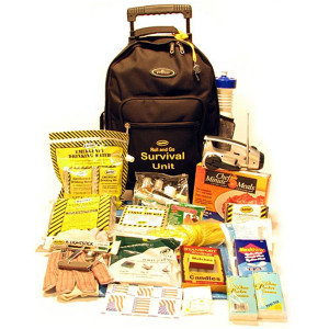 Roll and Go Survival Kit on Wheels - One Person - Mayday