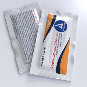 Hydrocortisone Cream 1.0%, .9 gm. - 144 Per Box - Dynarex