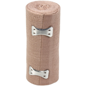 "4"" x 5 yd Elastic (Ace) Bandage w/ 2 Fasteners - 1 Each - Value Brand"
