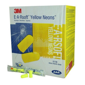 Disposable Uncorded Earplugs - 200 Pair Per Box - 3M