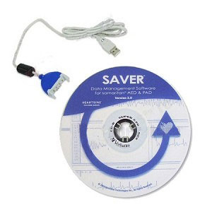 Saver® EVO Software (CD ROM) & USB data cable - HeartSine