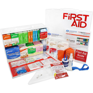 2 Shelf Industrial ANSI B+ First Aid Station, Pocketliner - 75 Person - Urgent First Aid