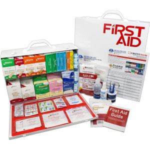 2 Shelf Industrial ANSI A+ First Aid Station, Pocketliner - 75 Person - Urgent First Aid