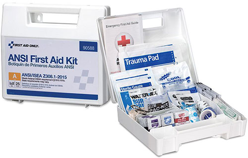 Image displaying a 25 Person ANSI Class A First Aid Kit with Plastic Case