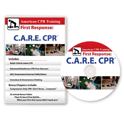 Graphic of First Response C.A.R.E. CPR DVD