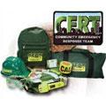 C.E.R.T. Starter Set, Action Response Unit & C.E.R.T. Deluxe Action Unit, Clipboards, Fieldbook, Helmets & Ponchos.
