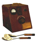 Image of old defibrillator made in 1979.