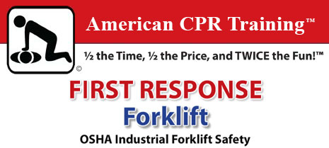 American CPR Training forklift training header graphic.