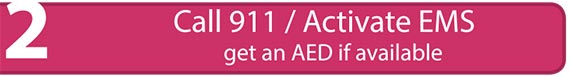 Call 911 / Activate EMS get an AED if available