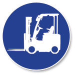 Forklift icon.