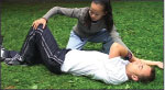 Image of student practicing resuscitation care on another student.
